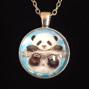 Darling little panda necklace